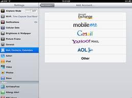 Opsætning af email på din iPad 2