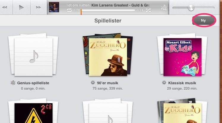Opret en spilleliste på din iPad 2