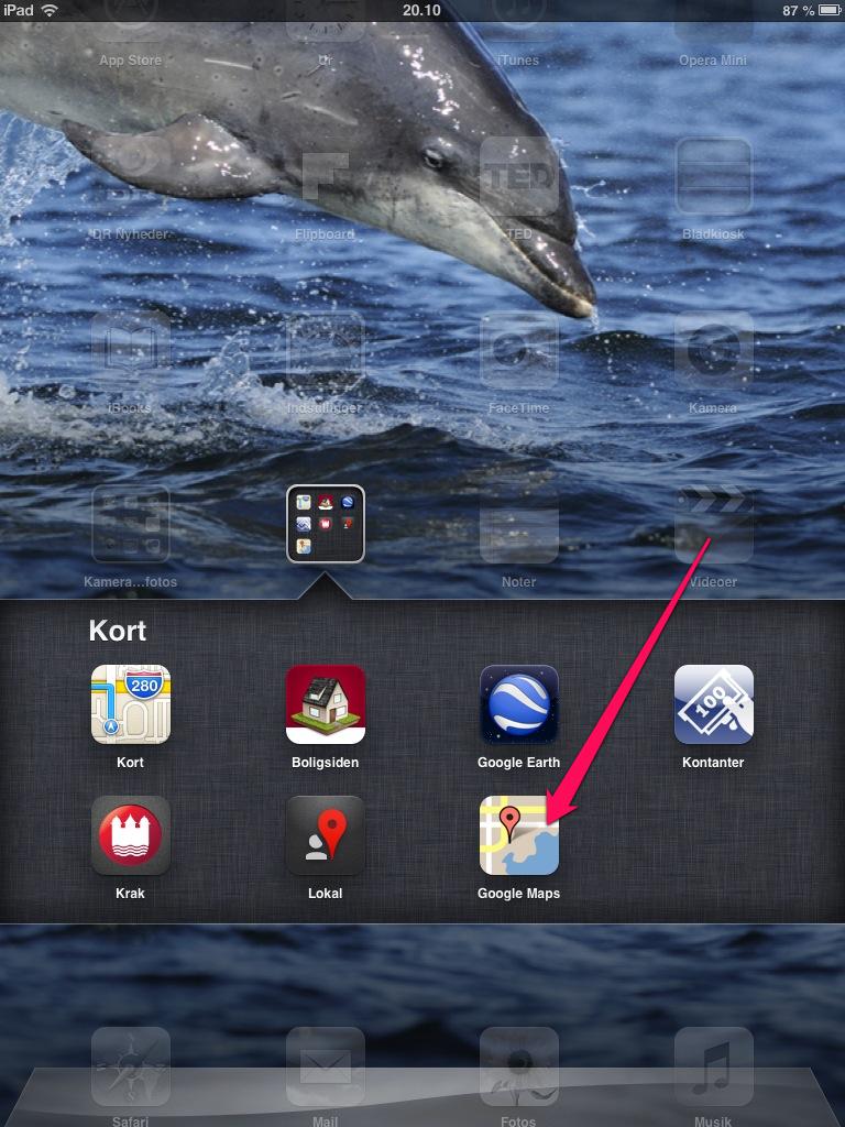 Få Google Maps på din iPad igen