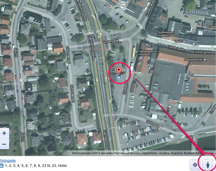 Google Street View på iPad