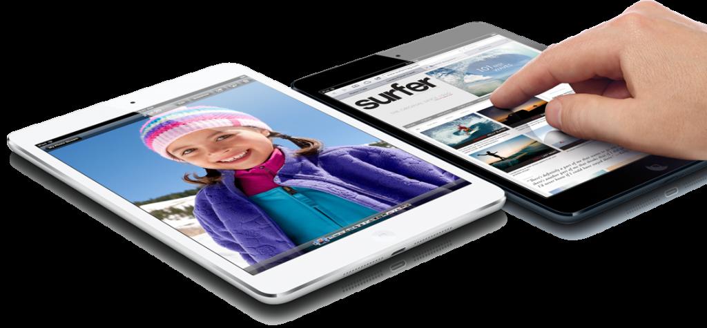 iPad mini fås i sort og hvid