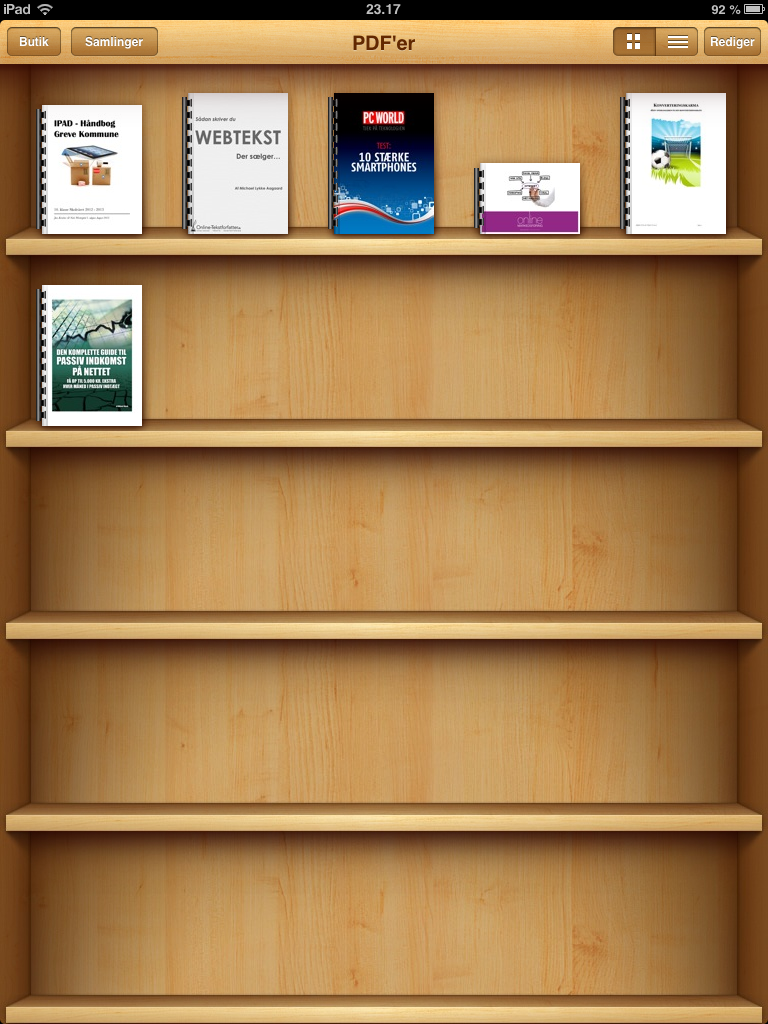 iBooks på iPad